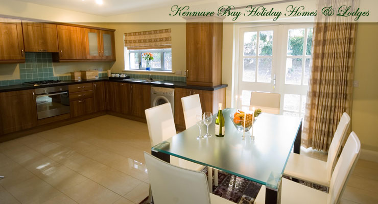 Kenmare Bay Holiday Homes Kitchen Area
